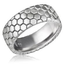 Honeycomb Wedding Band
