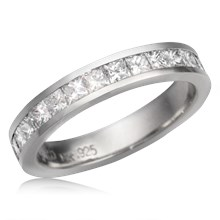 Princess Channel Mokume Wedding Band