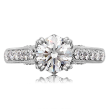 Vintage Crown Engagement Ring - top view