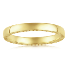 Four Directions Wedding Band - top view