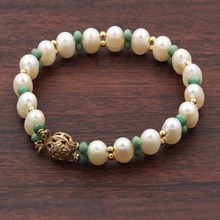 Turquoise And Pearl Bracelet