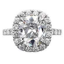 Decadence Infinity Engagement Ring - top view