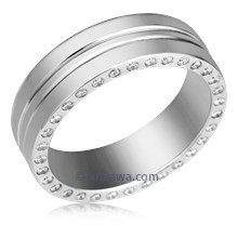Men's Modern Diamond Wedding Band