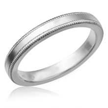 Simple Millegrain Wedding Band
