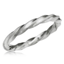 Millegrain Twist Wedding Band