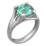 Carved Wing Engagement Ring with Cushion-Cut Green Tourmaline
