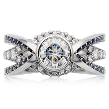 Rivendale Cathedral Engagement Ring - top view