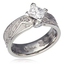 Tree Of Life Kite Engagement Ring