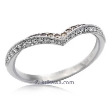 Chevron Contoured Wedding Band