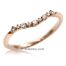 Dew Drop Contoured Wedding Band