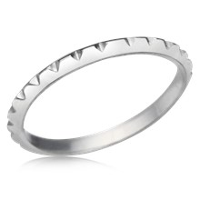 Triangle Notch Wedding Band