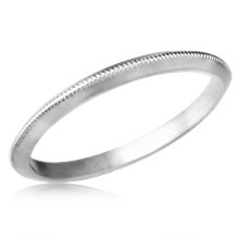 Knife Edge Millegrain Wedding Band