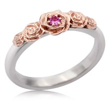 Five Rose Engagement Ring