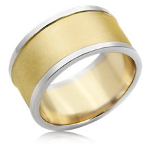Wide Two Tone Wedding Band