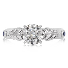 Oak Leaf Engagement Ring - top view