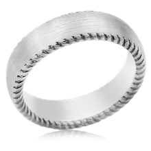 Contemporary Rope Wedding Band