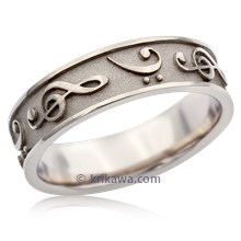 Treble & Bass Clef Wedding Band