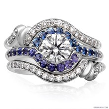 Loving Embrace Engagement Ring - top view