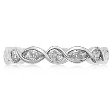 Diamond Twist Wedding Band - top view
