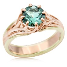 Embracing Tree Branch Two Tone Engagement Ring