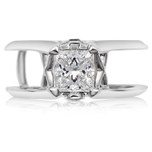 Juicy Light Scaffold Engagement Ring - top view