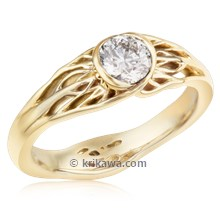 Tree Of Life Engagement Ring With Roots In Yellow Gold