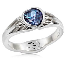 Tree Of Life Engagement Ring With Roots With Alexandrite
