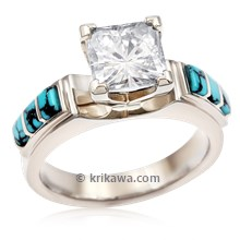 Turquoise Trilogy Engagement Ring