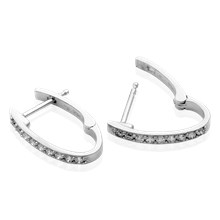 Perfect Diamond Hoop Earrings