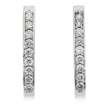 Perfect Diamond Hoop Earrings - top view