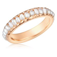 Pearl Eternity Wedding Band