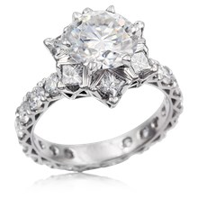 Deluxe Snowflake Engagement Ring