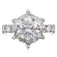 Deluxe Snowflake Engagement Ring - top view