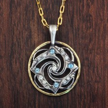 Spiral Mandala Necklace - top view