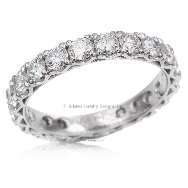 Snowflake Diamond Eternity Wedding Band