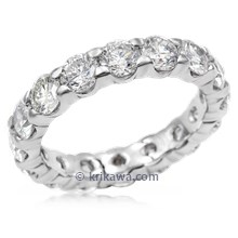 Scalloped Bead Set Diamond Wedding Band, 4MM