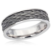 Shark Skin Wedding Band