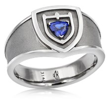 Shield Crest Signet Ring