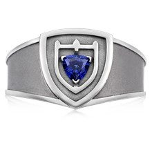 Shield Crest Signet Ring - top view