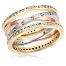 Layered Crossover Diamond Band