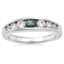 Seven Stone Diamond Ring - top view