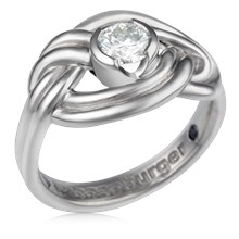 Climber's Knot Engagement Ring