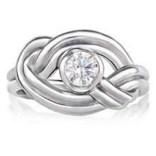Climber's Knot Engagement Ring - top view