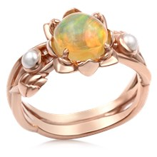 Lotus Bud Engagement Ring