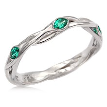 Embracing Branch Leaf Wedding Band