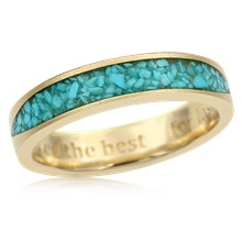 Turquoise Flair Wedding Band