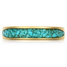 Turquoise Flair Wedding Band - top view