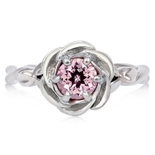 Twisted Rose Engagement Ring - top view