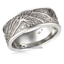 Tree Of Life Diamond Wedding Band