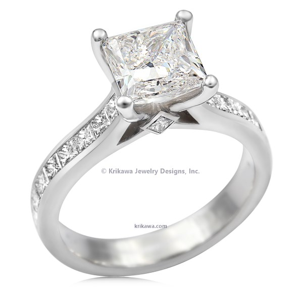 Classy Princess Cathedral Engagement Ring